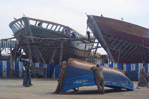 Schiffsbau in der Werft